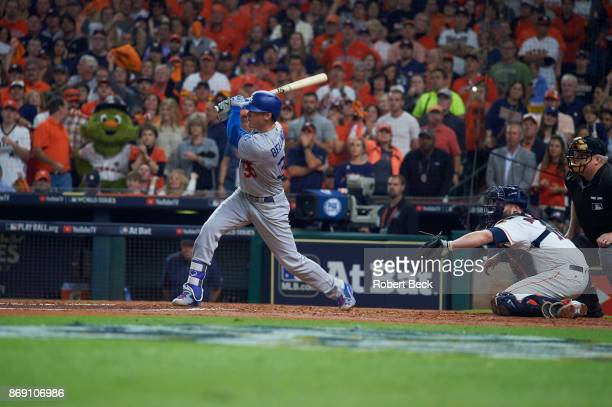 World Series Los Angeles Dodgers Cody Bellinger in action at bat vs Houston Astros at Minute Maid Park Game 5 Houston TX CREDIT Robert Beck