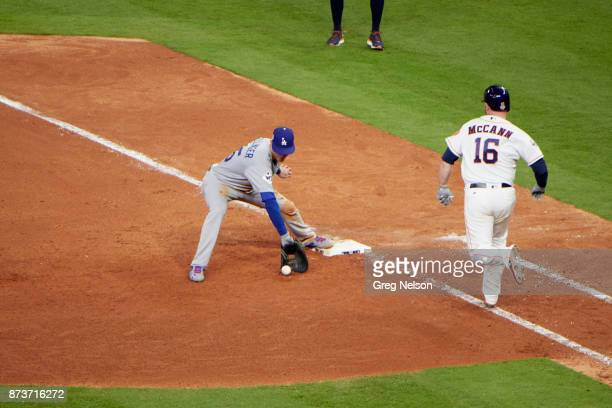 World Series Los Angeles Dodgers Cody Bellinger in action fielding vs Houston Astros Brian McCann at Minute Maid Park Game 4 Houston TX CREDIT Greg...