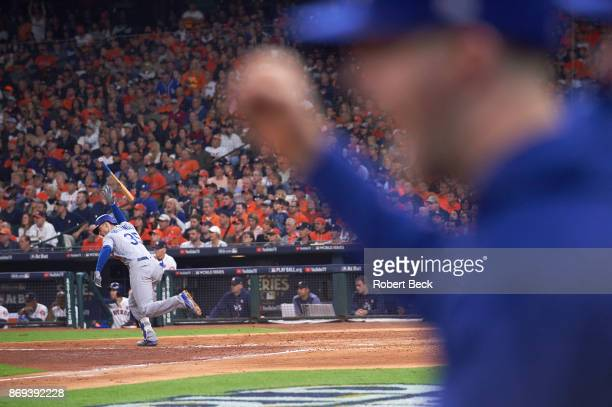 World Series Los Angeles Dodgers Cody Bellinger victorious during game vs Houston Astros at Dodger Stadium Game 4 Houston TX CREDIT Robert Beck
