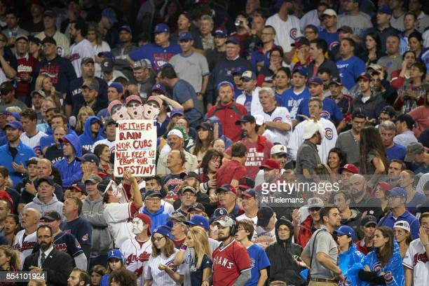 World Series Overall view of fans in stands during Chicago Cubs vs Cleveland Indians Game 7 at Progressive Field Cleveland OH CREDIT Al Tielemans
