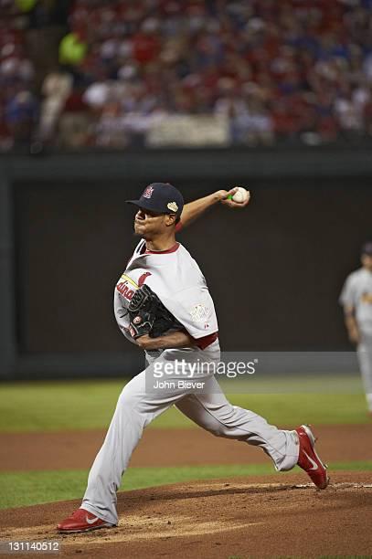 World Series St Louis Cardinals Edwin Jackson in action pitching vs St Louis Cardinals at Rangers Ballpark Game 4 Arlington TX CREDIT John Biever
