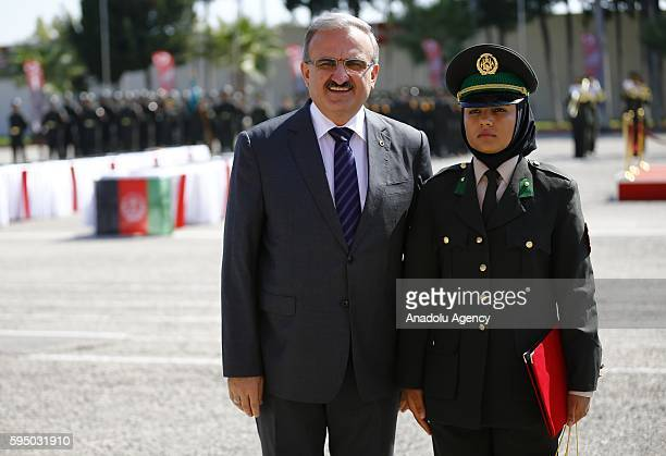 Baseera Mohammadi the first of the course received her graduation certificate and gift from Antalya Gov Munir Karaloglu after 109 Afghan National...