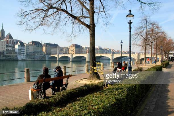 Basel-Stadt/entspannend auf den Rhein