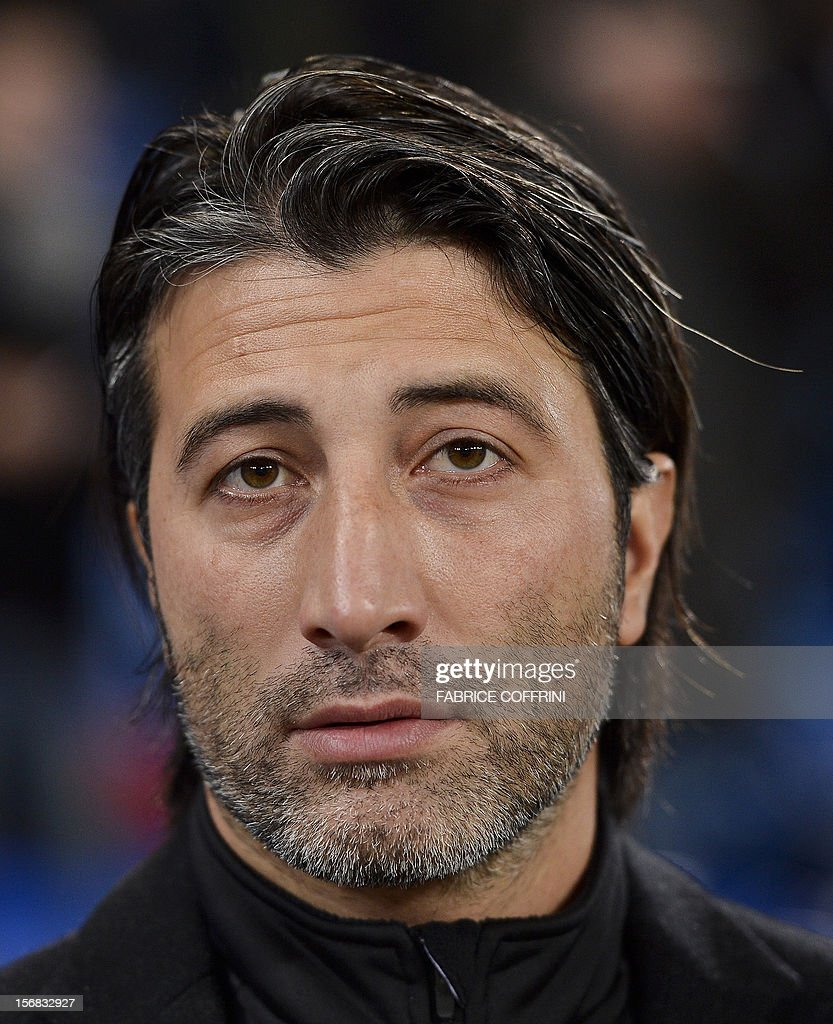 FC Basel coach Murat Yakin looks on prior to the Europa League UEFA Group G football match between FC Basel and Sporting Clube de Portugal on November 22, 2012, in Basel.