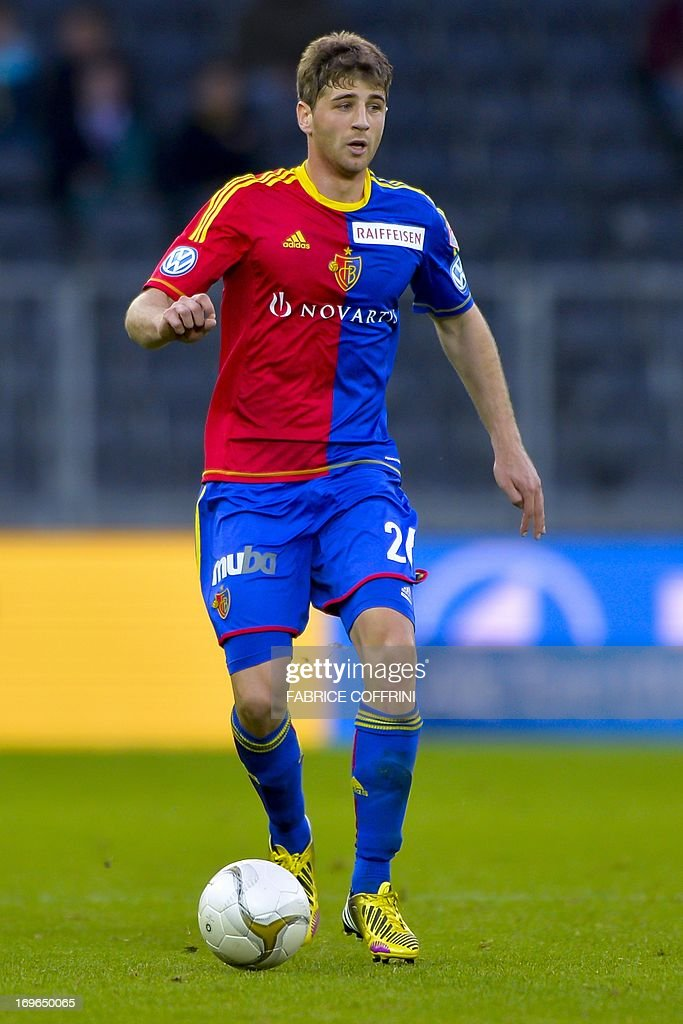 FC Basel's defender Gaston Sauro controls the ball on May 29, 2013 during a Swiss football Super League match against Bern Young Boys in Bern.