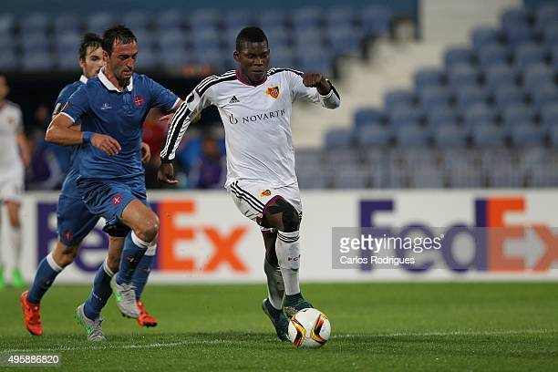 Basel's forward BreelDonald Embolo during the match between Belenenses v Altach for the UEFA Europa League Play Off Round 2nd Leg on November 05 2015...
