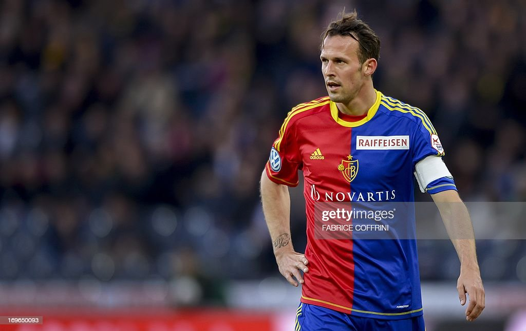 FC Basel's forward Marco Streller looks on on May 29, 2013 during a Swiss football Super League match against Bern Young Boys in Bern. AFP PHOTO / FABRICE COFFRINI