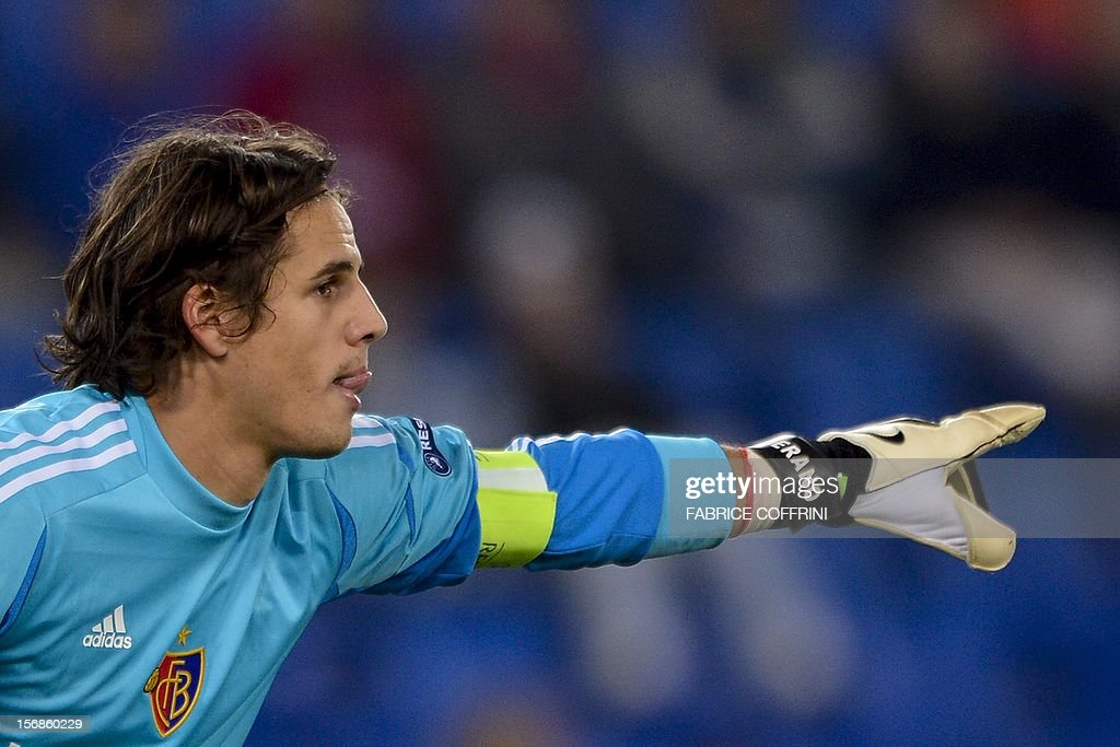 FC Basel's goalkeeper Yann Sommer during his Europa League UEFA Group G football match between FC Basel and Sporting Clube de Portugal on November 22, 2012, in Basel.
