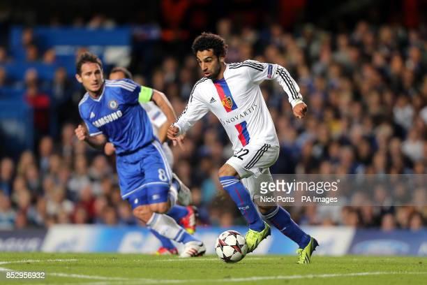 FC Basel's Mohamed Salah takes on Chelsea's Frank Lampard