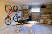 basement house clutter garage storage