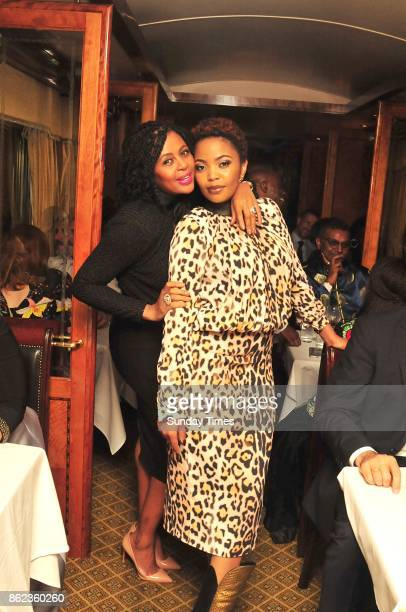 Basetsana Kumalo and Terry Pheto during the 67 blankets for Mandela Day Massive Mandela Masterpiece official launch at the Blue Train departure...