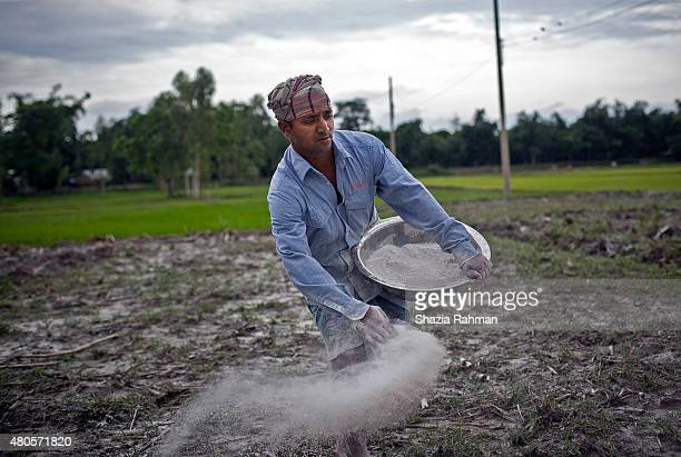 Bash Kata Indian enclave resident Mofijul Islam tends to his field July 9 2015 in Lalmonirhat District Bangladesh The India Bangladesh enclaves also...