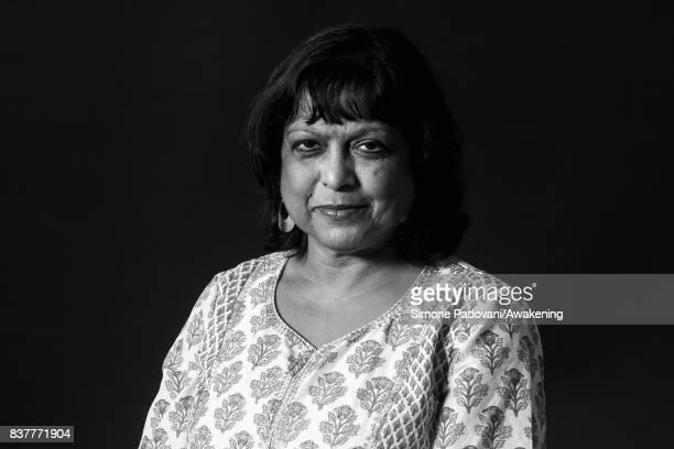 Bashabi Fraser attends a photocall during the Edinburgh International Book Festival on August 23 2017 in Edinburgh Scotland