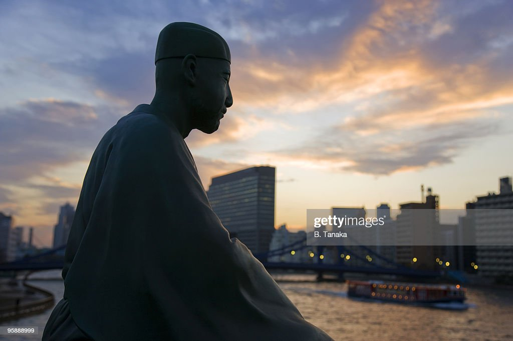 Basho the Poet's statue in Tokyo, Japan. : Stock Photo