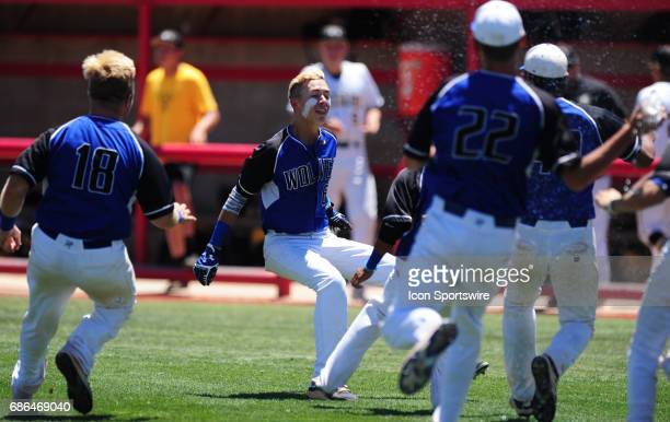 Basic Academy Wolves batter John Howard Bobo hits a walkoff tworun RBI single against the Galena Grizzlies in the fifth inning of the NIAA 4A state...