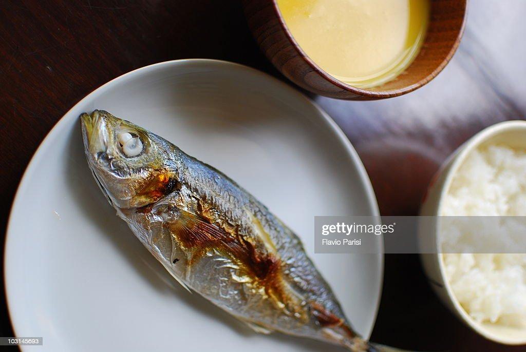 Basic Japanese lunch : Stock Photo