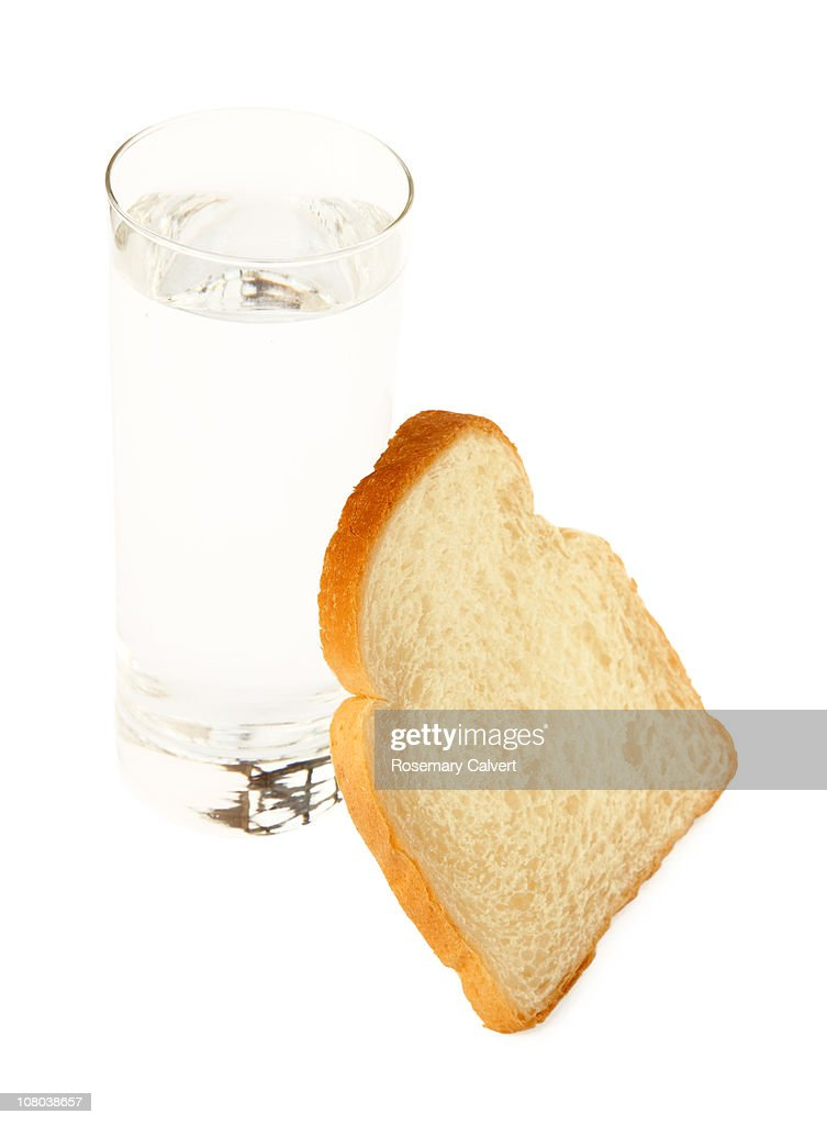 Basic need of bread and water. : Stock Photo