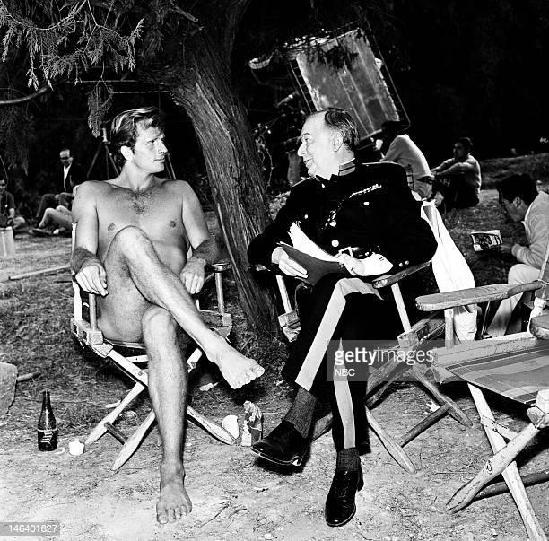 TARZAN 'Basil of the Bulge' Episode 22 Pictured Ron Ely as Tarzan Maurice Evans as Sir Basil Bertram