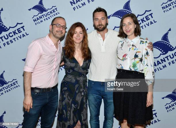 Basil Tsiokos Dana Delany Ryan Eggold and Kristen Schaal attend the screening of 'Literally Right Before Aaron' during the 2017 Nantucket Film...
