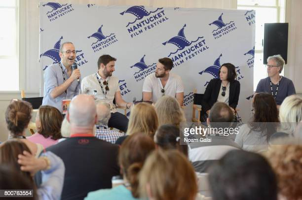 Basil Tsiokos Jared Moshe Ryan Eggold Lauren Wolkstein and Angus McLachlan attend 'Morning Coffee' during the 2017 Nantucket Film Festival Day 5 on...