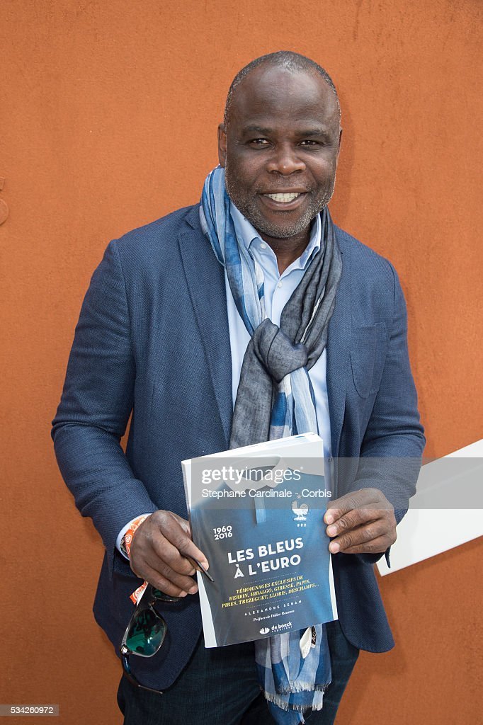 Basile Boli attends day four of the 2016 French Open at Roland Garros on May 25, 2016 in Paris, France.