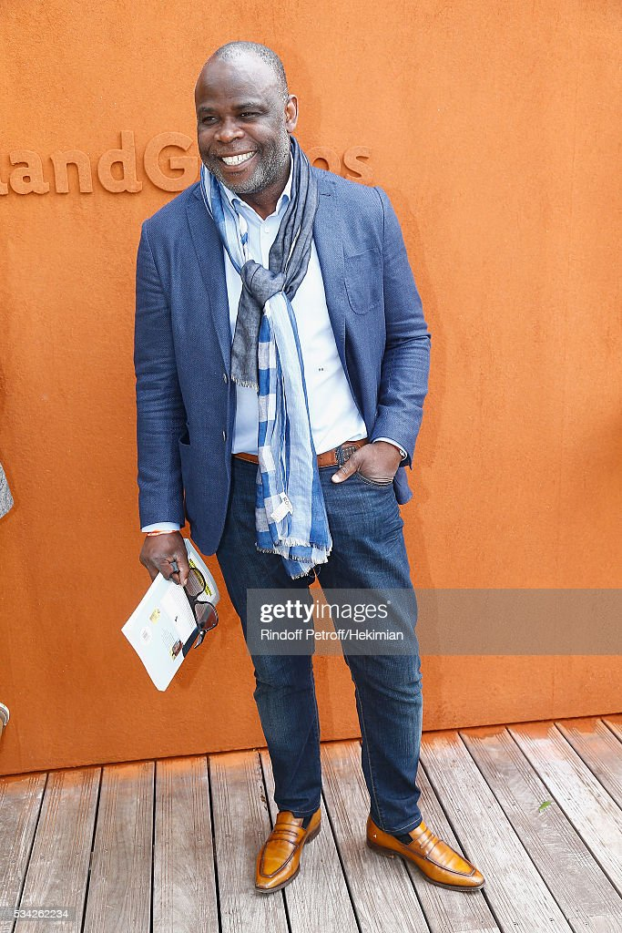 Basile Boli attends day four of the French Tennis Open at Roland Garros on May 25, 2016 in Paris, France.