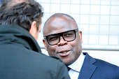 Basile Boli of Marseille before during the semifinal French Cup between Sochaux and Olympique de Marseille at Stade Auguste Bonal on April 20 2016 in...