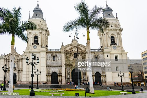 Basilica Cathedral of Lima, Peru : Stock Photo