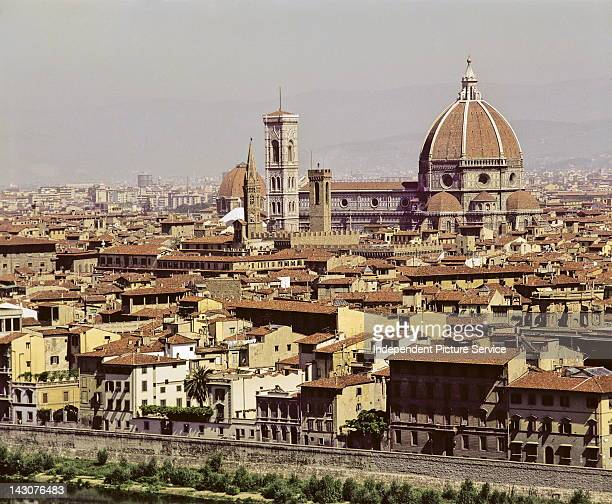 Basilica di Santa Maria del Fiore as seen from Piazza MichelangeloFlorence Italy