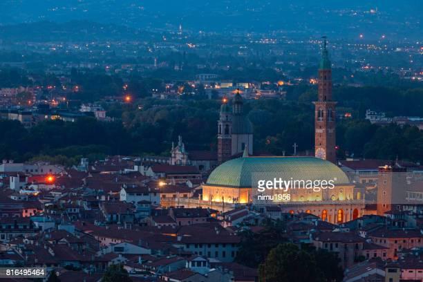 Basilica of Palladio at twilight - Vicenza