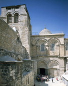 Basilica of the Holy Sepulchre or the Church of the Resurrection Old City of Jerusalem Israel