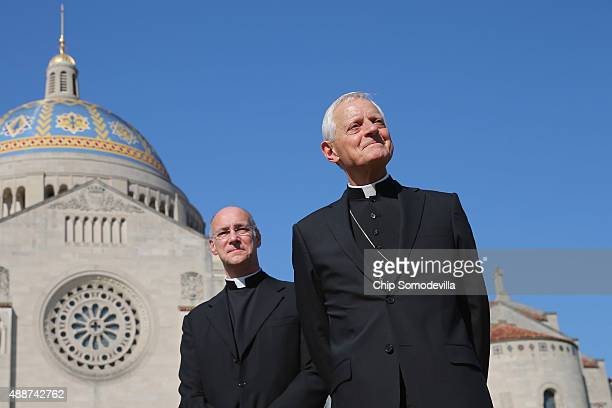 Basilica of the National Shrine of the Immaculate Conception Rector Msgr Walter Rossi and Washington Archbishop Cardinal Donald Wuerl hold a news...