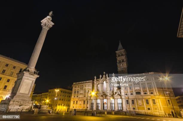 Basilica Papale di Santa Maria Maggiore at Night