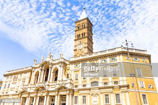 Basilica Santa Maria Maggiore in Rome, Italy : Stock Photo