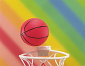 Basket Ball and Hoop