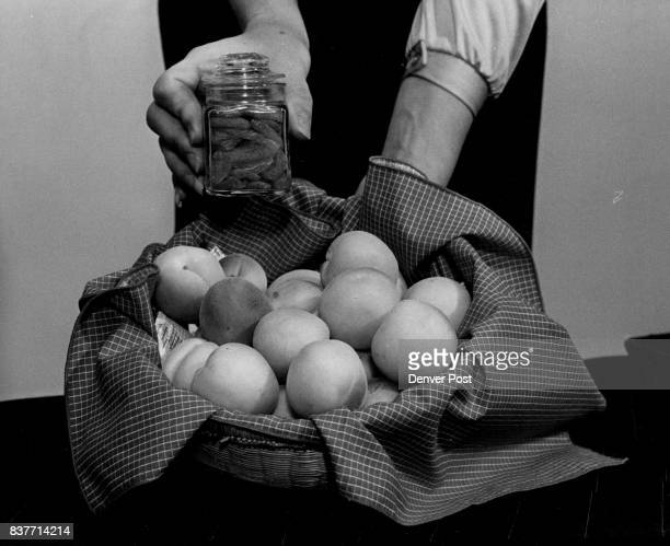 Basket Contains Good Supply Of Apricots By drying fruits Deanne DeLong can fit apricots in tiny jar for storage Credit Denver Post Inc