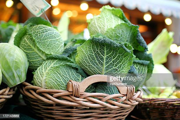 Basket full of cabbages