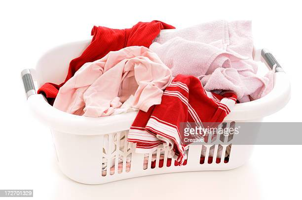 A basket full of clean laundry