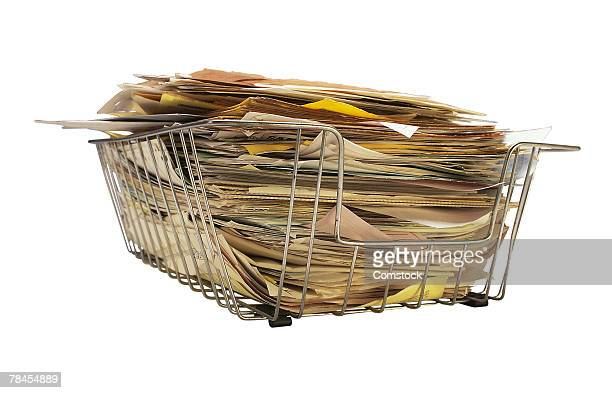 Basket full of papers