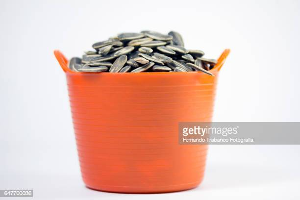 Basket full of pipas (sunflower seeds)