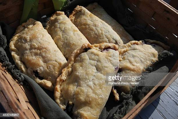 A basket of blueberry hand pies is seen Saturday July 26 2014 on Andrews Island Maine