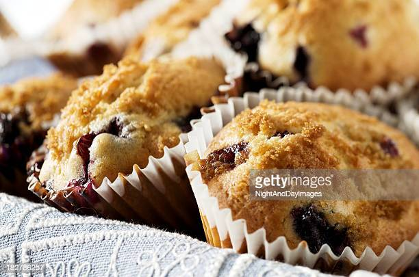 Basket of Blueberry Muffins