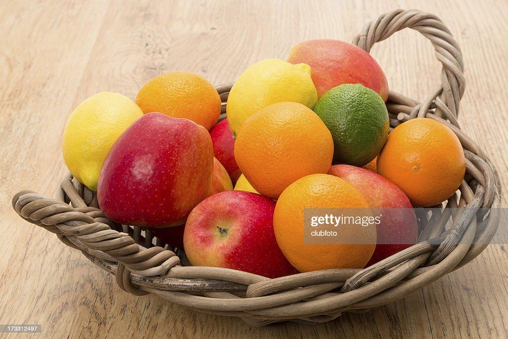 Basket Of Fresh Fruit Stock Photo Getty Images