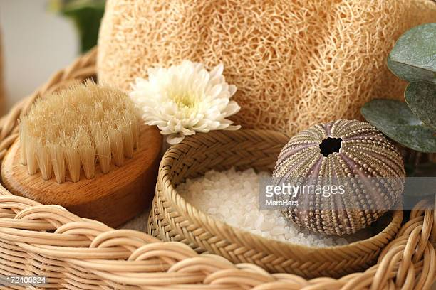 basket of spa products