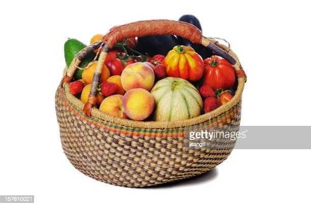 Korb Sommer Obst
