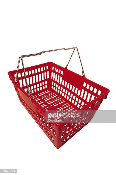 Basket symbolizes online shopping