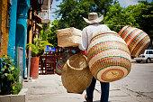 Basket Vendor, Cartagena, Colombia