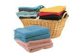 Basket with folded laundry