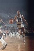 NBA Finals Los Angeles Lakers Elgin Baylor in action vs Boston Celtics Game 3 Los Angeles CA 4/20/1966 CREDIT Walter Iooss Jr