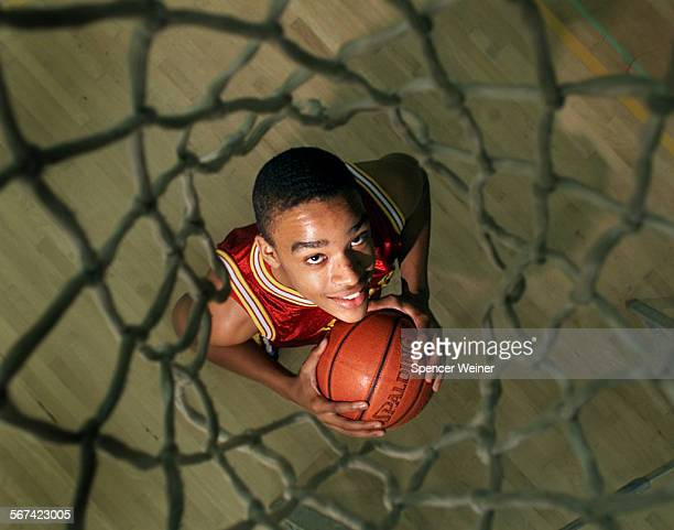Basketbal player Nicholas Curtis would like to see more of the net this season playing for the Oxnard High School basketball team The 6'–7'...